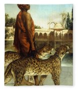 The Palace Guard With Two Leopards Fleece Blanket