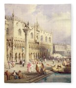 The Palaces Of Venice Fleece Blanket