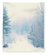 The Pale Kiss Of Winter Fleece Blanket