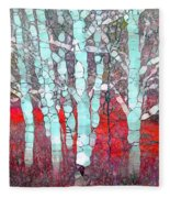 The Pale Trees Of Winter Fleece Blanket