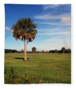 The Palmetto Tree Fleece Blanket