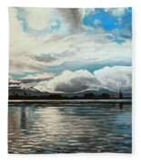 The Panoramic Painting Fleece Blanket
