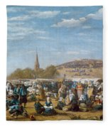 The Pardon Of Sainte Anne La Palud Fleece Blanket