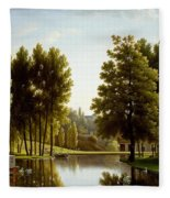 The Park At Mortefontaine Fleece Blanket