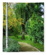 The Park Federico Garcia Lorca Is Situated In The City Of Granada, In Spain. Fleece Blanket