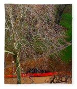 The Parc Des Buttes-chaumont # 1. Fleece Blanket
