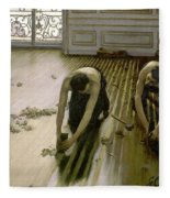 The Parquet Planers - Gustave Caillebotte Fleece Blanket