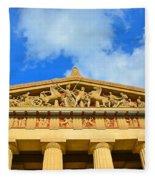 The Parthenon In Nashville Tennessee 2 Fleece Blanket