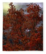 The Passion Of Autumn Fleece Blanket