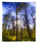 The Pastel Forest Fleece Blanket