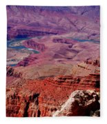 The Path Of The Colorado River Fleece Blanket