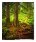 The Path Through The Forest Fleece Blanket
