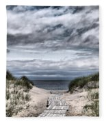 The Path To The Beach Fleece Blanket