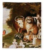 The Peaceable Kingdom Fleece Blanket