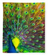 The Peacock Fleece Blanket