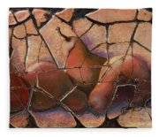 The Pears Fresco With A Crackle Finish Fleece Blanket