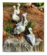 The Pelican Clan Fleece Blanket