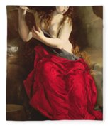 The Penitent Magdalen Fleece Blanket