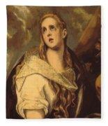 The Penitent Magdalene 1578 Fleece Blanket