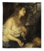 The Penitent Mary Magdalene Fleece Blanket