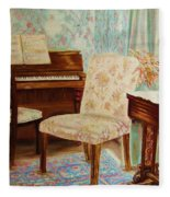 The Piano Room Fleece Blanket