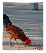 The Picking Rooster Fleece Blanket