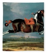 The Piebald Horse Fleece Blanket