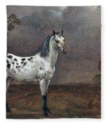The Piebald Horse Fleece Blanket