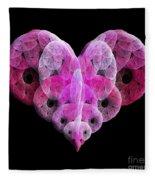 The Pink Heart Fleece Blanket