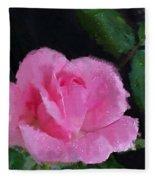 The Pink Rose Fleece Blanket