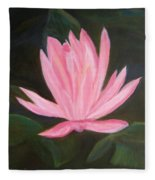 The Pink Water Lily Fleece Blanket