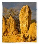 The Pinnacles Nambung National Park Australia Fleece Blanket