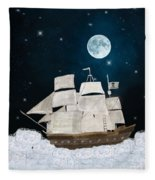 The Pirate Ghost Ship Fleece Blanket