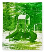 The Playground I - Ocean County Park Fleece Blanket