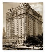The Plaza Hotel Fleece Blanket
