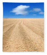 The Ploughed Field 2 Fleece Blanket