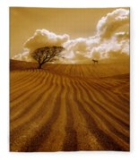 The Ploughed Field Fleece Blanket