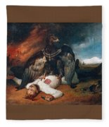 The Polish Prometheus Horace Vernet Fleece Blanket