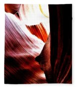 The Polished Rocks Of Lower Antelope Canyon Fleece Blanket