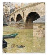 The Pont Marie. Paris Fleece Blanket