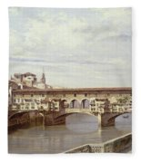 The Pontevecchio - Florence  Fleece Blanket