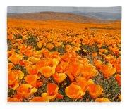 The Poppy Fields - Antelope Valley Fleece Blanket