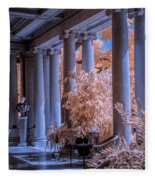 The Porch Of The European Collection Art Gallery At The Huntington Library In Infrared Fleece Blanket