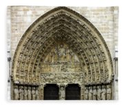 The Portal Of The Last Judgement Of Notre Dame De Paris Fleece Blanket