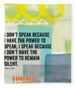 The Power To Speak- Contemporary Jewish Art By Linda Woods Fleece Blanket