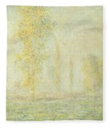 The Prairie In Giverny Fleece Blanket