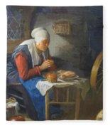 The Prayer Of The Spinner Fleece Blanket