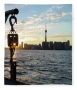 The Precision Of Sunset In The Harbour Fleece Blanket