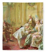 The Presentation Of The Young Mozart To Mme De Pompadour At Versailles Fleece Blanket