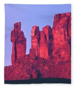 612717-the Priest And The Nuns  Fleece Blanket